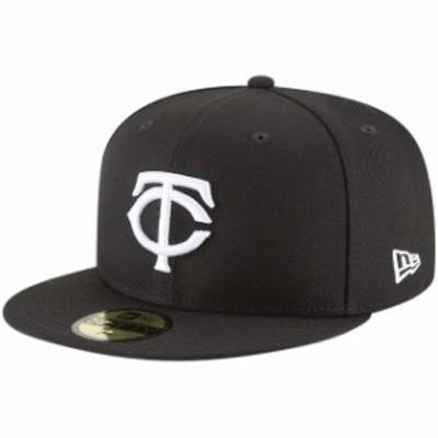 New Era ニュー エラ スポーツ用品  New Era Minnesota Twins Black Basic 59FIFTY Fitted Hat