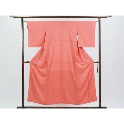 リサイクル着物 小紋 正絹赤地袷江戸小紋着物