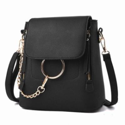 ミニショルダー レディース 女性 リュック レディース 小さめ PUレザー チェーン ファッション かわいい 斜めかけバッグ