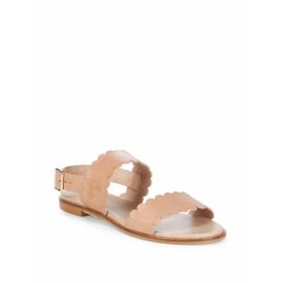 サックスフィフスアベニュー レディース シューズ サンダル Scalloped Leather Sandals