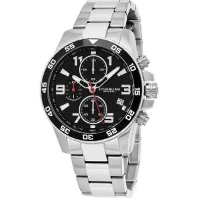 スターリング レディース 腕時計 アクセサリー Men's Japan Chronograph Bracelet Watch, Silver Tone Case on Silver Tone Brushed and