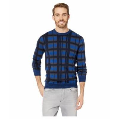 Perry Ellis ペリーエリス 服 スウェット Multicolor Plaid Crew Neck Sweater