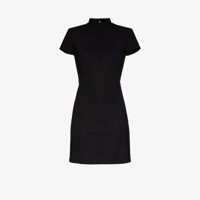 マルシア Marcia レディース ワンピース ミニ丈 ワンピース・ドレス marcia perforated mini dress black