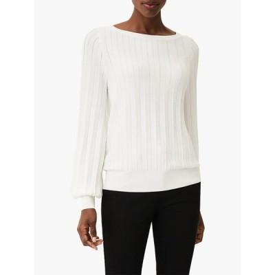 フェイズ・エイト シャツ レディース トップス Phase Eight Sheri Ribbed Sweatshirt, Ivory