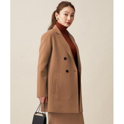 (ICB(LARGE SIZE)/アイシービー エルサイズ)【マガジン掲載】WoolRever ジャケットコート(番号CJ22)/レディース キャメル系