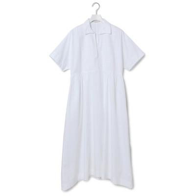 アダム エ ロペ ファム/【ヌキテパ】POPLIN EMB SHORT SLEEVE DRESS/ホワイト/F