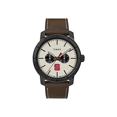 新品・送料無料Timex Men's NCSU NC State Wolfpack Watch Home Team Leather Watch[並輸51]