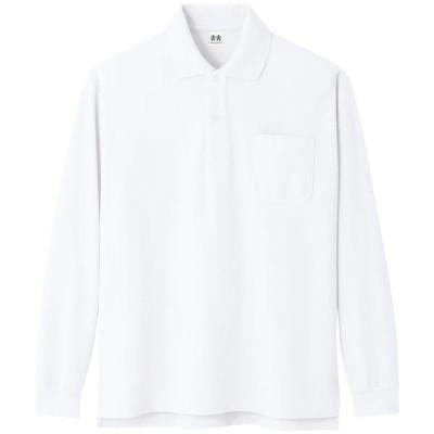 コーコス 超消臭長袖ポロシャツ ホワイト LL ※取寄品 A-138