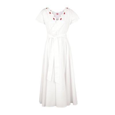 VIVETTA 7分丈ワンピース・ドレス ホワイト 40 コットン 97% / ポリウレタン 3% 7分丈ワンピース・ドレス