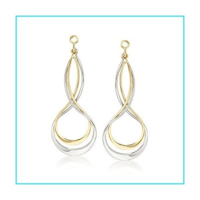 Ross-Simons Sterling Silver and 14kt Yellow Gold Earring Jackets【並行輸入品】