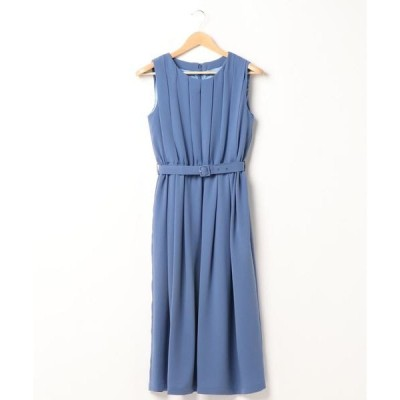 ドレス ベルト付プリーツドレス(0R04-D207)
