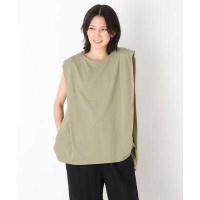 tシャツ Tシャツ 肩タックAラインカットソー