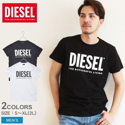 (メール便送料無料) ディーゼル 半袖Tシャツ メンズ T‐DIEGO‐LOGO DIESEL 00SXED 0AAXJ ホワイト 白 ブラック 黒 ネイビー グレー トップス ウェア