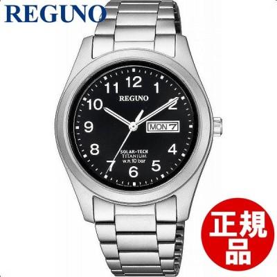 シチズン CITIZEN 腕時計 REGUNO レグノ ウォッチ ソーラーテック スタンダード チタニウムモデル KM1-415-53 メンズ
