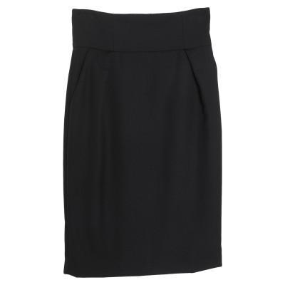アレクサンドル・ボーティエ ALEXANDRE VAUTHIER ひざ丈スカート ブラック 38 ウール 100% ひざ丈スカート