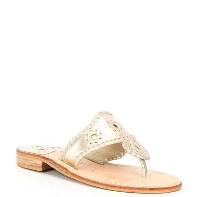 ジャックロジャース レディース サンダル シューズ Jacks Metallic Leather Flat Sandals
