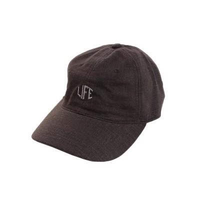 エーシーピージー(ACPG) リネン刺繍キャップ LIFE 897PA9ST1707 BLK (メンズ)