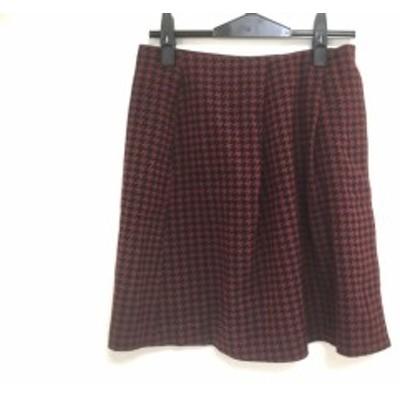 スピック&スパン ノーブル Spick&Span Noble スカート サイズ38 M レディース 美品 レッド×黒 千鳥格子【中古】
