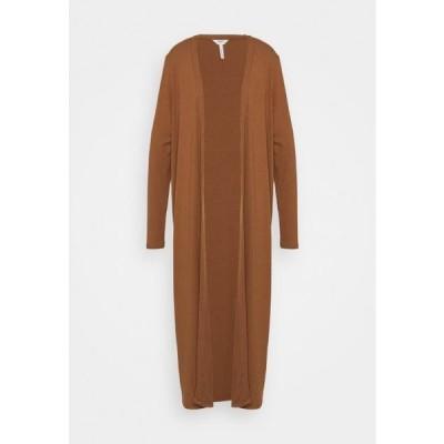 レディース ファッション OBJJAMIE LONG CARDIGAN - Cardigan - partridge