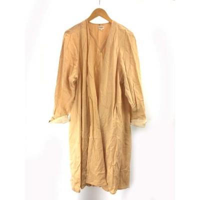 【中古】フォクシーブティック  FOXEY BOUTIQUE コート ロング丈 7分丈 ウール フリーサイズ クリーム色 SSS8 レディース 【ベクトル 古着】