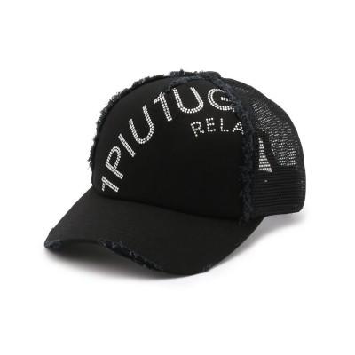 【ロイヤルフラッシュ】 1PIU1UGUALE3 RELAX/ウノピゥ ウノ ウグァーレ トレ リラックス/RHINESTONE ARCH LOGO CAP メンズ ブラック 00 RoyalFlash