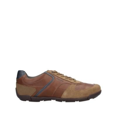 ジェオックス GEOX スニーカー&テニスシューズ(ローカット) ブラウン 44 革 / 紡績繊維 スニーカー&テニスシューズ(ローカット)