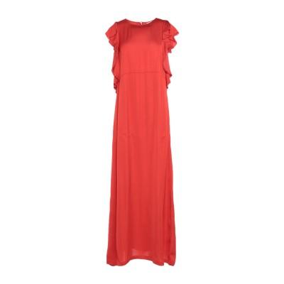 セミクチュール SEMICOUTURE ロングワンピース&ドレス レッド 40 レーヨン 100% ロングワンピース&ドレス