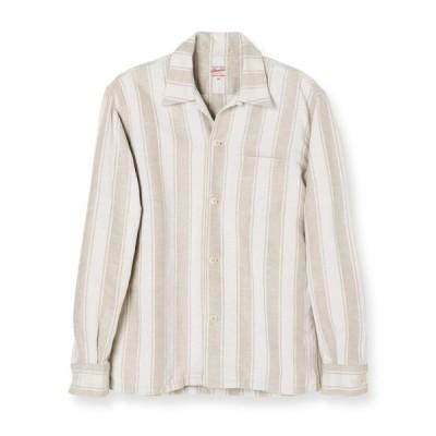 MOMOTARO JEANS 桃太郎ジーンズ モモタロウジーンズ 05-264 コットンリネン・オープンカラーシャツ(ナチュラル) 岡山 児島