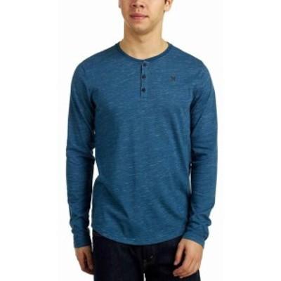 Hurley ハーレー ファッション トップス Hurley Mens Dri-FIT San Clemente Long Sleeve Raglan Henley Shirt