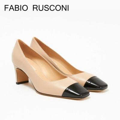ファビオルスコーニ レディース パンプス バイカラー FABIO RUSCONI ANFO 4435 NATUR OFF BEIGE