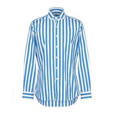 XACUS シャツ アジュールブルー 42 コットン 100% シャツ