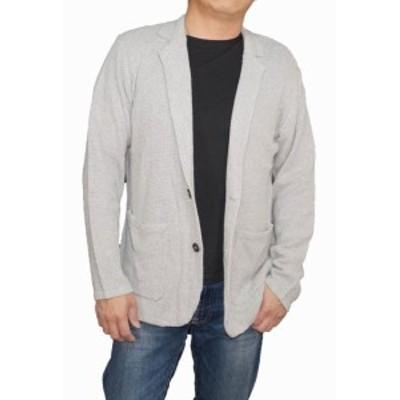コムサイズム COMME CA ISM 麻入り テーラード カットジャケット グレー 47-72KL11 lt メンズ  リネン コットン 春物 夏物