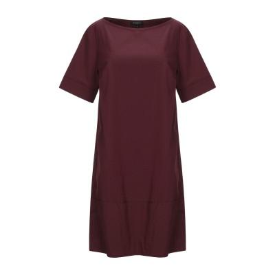 ANTONELLI ミニワンピース&ドレス ボルドー 40 コットン 80% / ナイロン 16% / ポリウレタン 4% ミニワンピース&ドレス