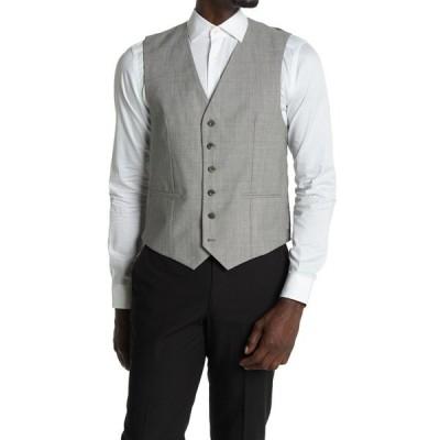 レイス メンズ ジャケット&ブルゾン アウター Serbelloni Vest Modern Fit LIGHT GREY