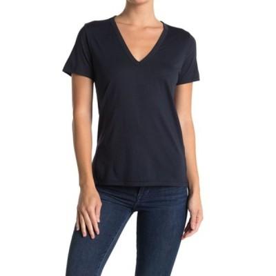 ラグアンドボーン レディース Tシャツ トップス Core V-Neck T-Shirt NAVY