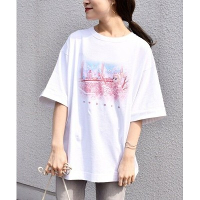 SHIPS for women/シップスウィメン meyocoプリントビッグTEE◇ ライトホワイト ONE SIZE