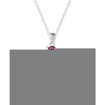 """ジャニ ベルニーニ レディース ネックレス・チョーカー・ペンダントトップ アクセサリー Crystal Cross 18"""" Pendant Necklace in Sterlin"""