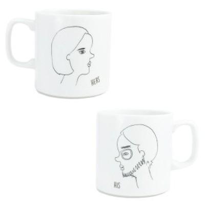 マグカップ マグ おしゃれ コーヒーカップ 美濃焼 アンニュイマグ 男性用 女性用 横顔 似顔絵 プレゼント ギフト