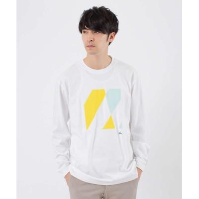 (ABAHOUSE/アバハウス)【TRANSREALITY】TYPE-2 長袖Tシャツ/メンズ ホワイト