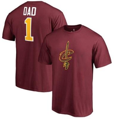 """メンズ Tシャツ """"Cleveland Cavaliers"""" #1 Dad T-Shirt - Wine"""