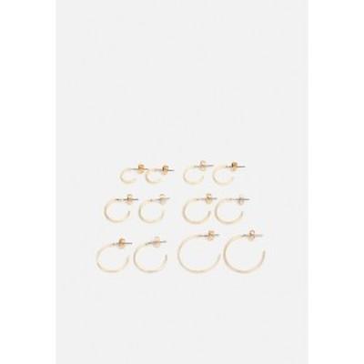 ピーシーズ レディース ピアス&イヤリング アクセサリー PCSANNY HOOP EARRINGS 6 PACK - Earrings - gold-coloured gold-coloured