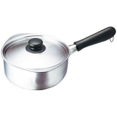 ステンレス片手鍋18cm蓋付(つや消し) (311151)