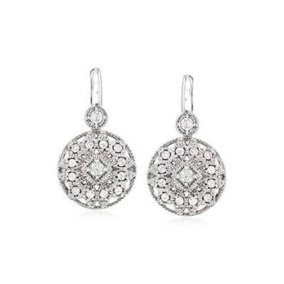 Ross-Simons 0.50 ct. t.w. Diamond Multi-Shape Drop Earrings in Sterling Sil
