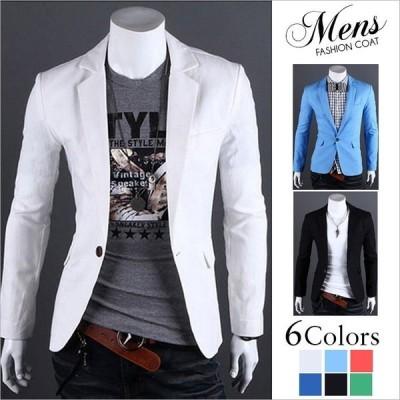 テーラードジャケット メンズ お洒落  ビジネスコート 無地 ジャケット メンズ アウター 紳士用 カジュアルコート