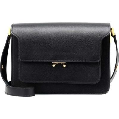 マルニ Marni レディース ショルダーバッグ バッグ Trunk leather shoulder bag Black
