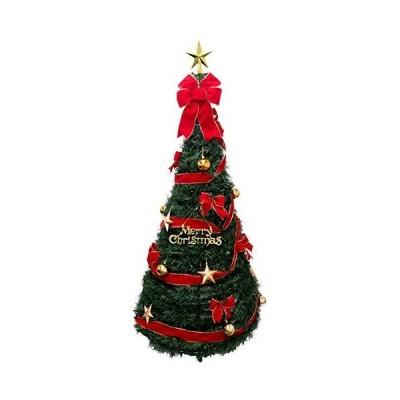 クリスマスツリー 180cm ポップアップツリー LEDライト付き 簡単 組み立てで あっという間に完成できます