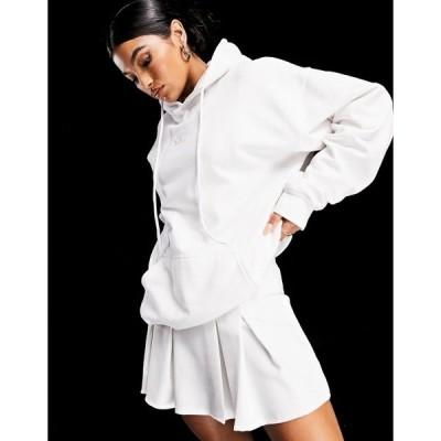 アズユー レディース パーカー・スウェットシャツ アウター ASYOU coordinating branded hoodie in ecru Ecru