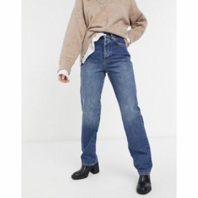 トップショップ Topshop レディース ジーンズ・デニム ボトムス・パンツ Carpenter Jeans In Mid Wash Blue ブルー