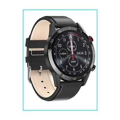 ZHIxin SmartWatch for Men Women Support Phone Call Dialer L13 Waterproof Bluetooth Smart Watch with Blood Pressure and Heart Rate Monitor Bl