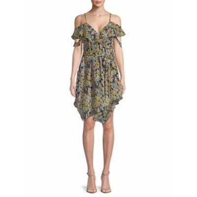 ケンダル+キリー レディース ワンピース Floral-Print Ruffled Wrap Dress